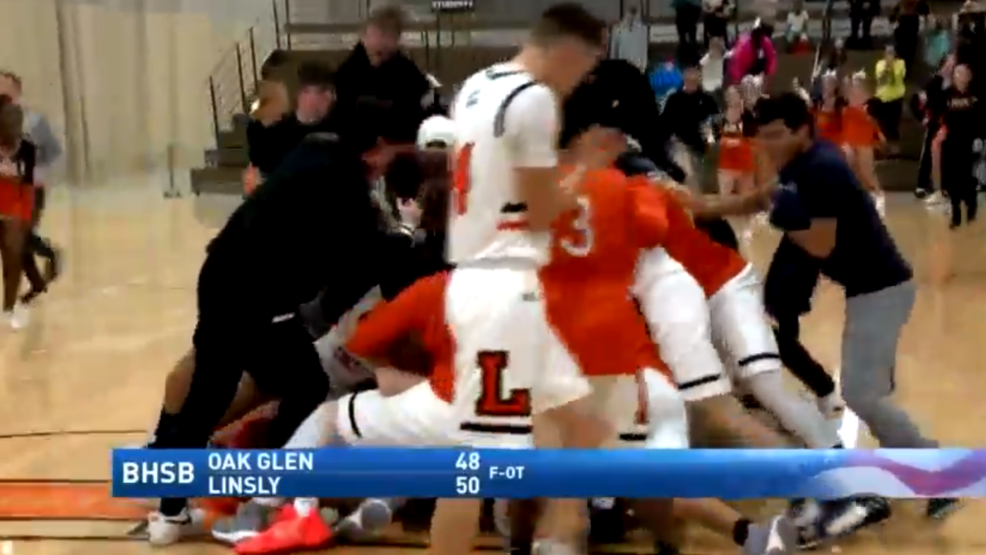 1.15.20 Highlights - Linsly wins overtime battle with Oak Glen at the buzzer