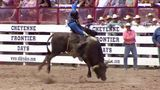 Cody Teel from Kountze leads at Cheyenne Frontier Days Rodeo