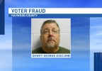 Dewey George Gidcumb was found guilty on Thursday of felony voter fraud for voting twice during the Republican primary last year. (Photo credit: Haywood County Sheriff's Office)