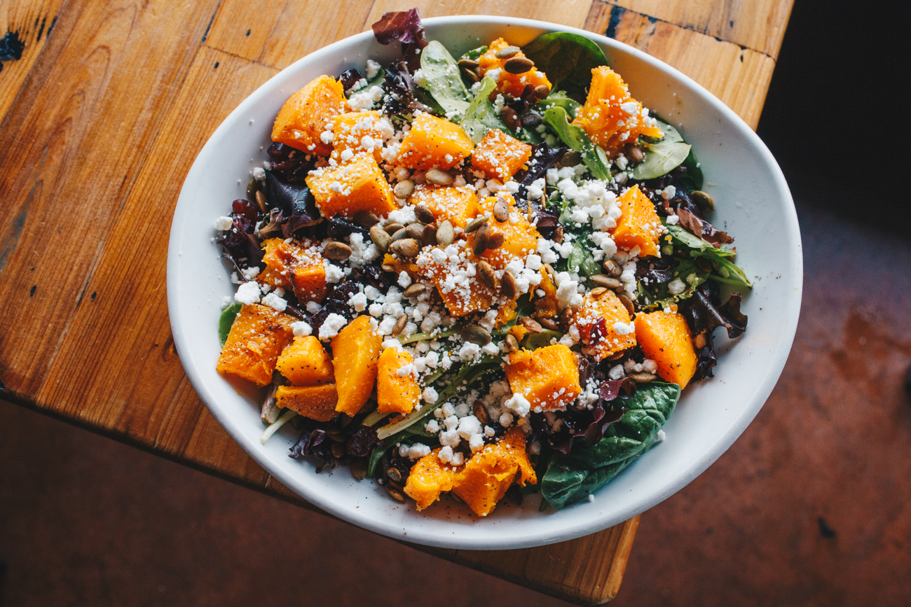 Butternut squash salad / Image: Catherine Viox // Published: 10.17.18