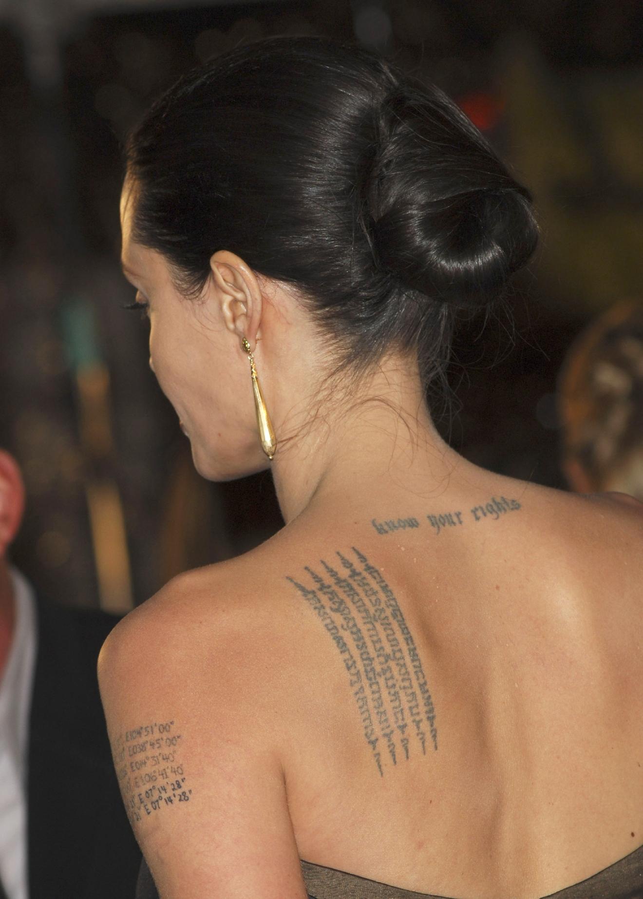 Татуировки анджелины джоли фото и их значение