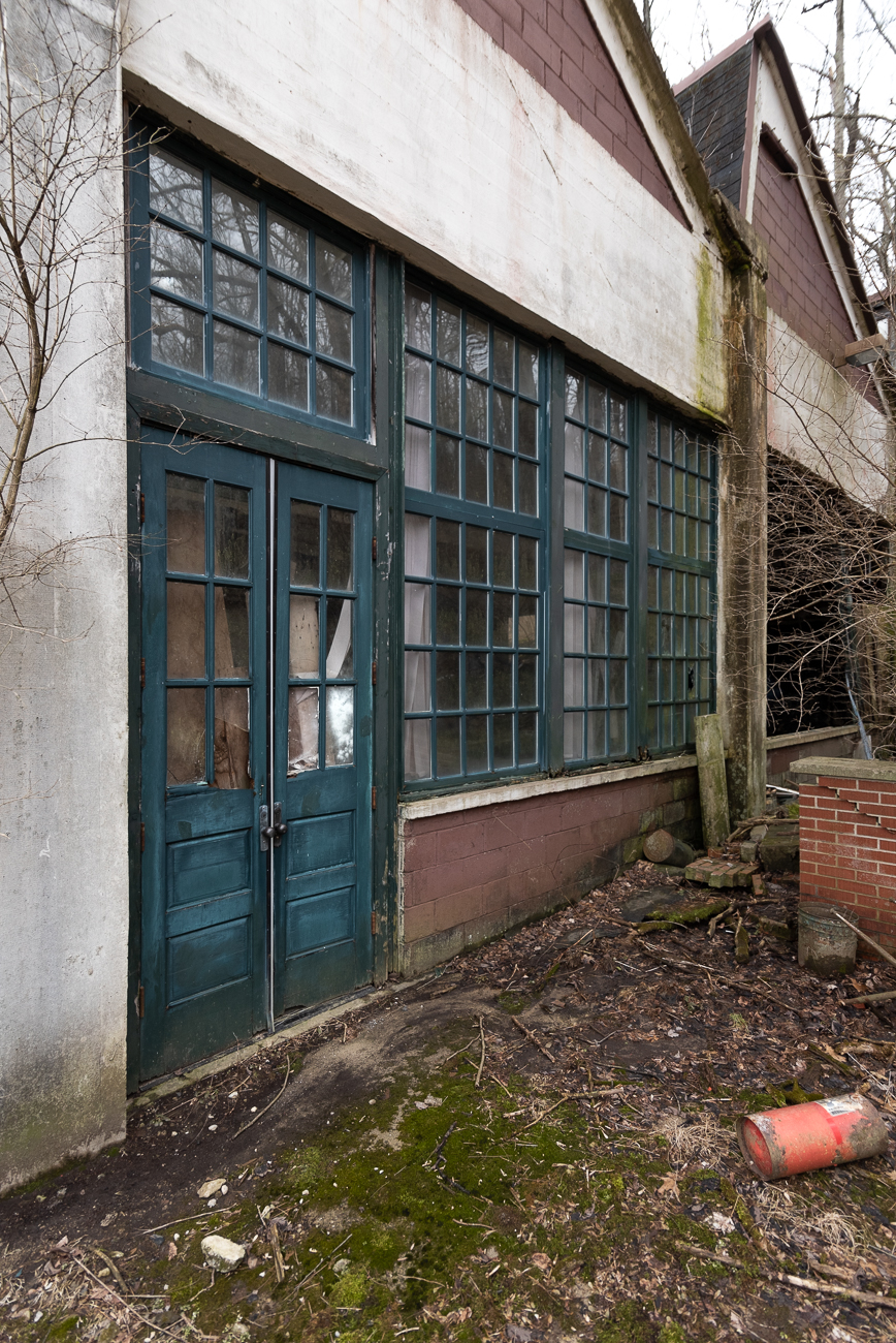 These old doors will lead out to Cartridge Brewing's future outdoor patio. Because the building is listed on the National Register of Historic Places, doors like this will be kept intact and refurbished. / Image: Phil Armstrong, Cincinnati Refined // Published: 2.28.19