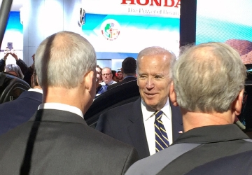 Vice President Biden visits the North American International Auto Show