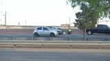 Person struck by vehicle while changing a tire on I-10 west