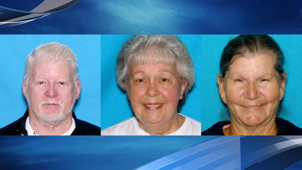 Photos of Melvin and Alice Hawkins and Sharon Buchanan from the Douglas County Sheriff's Office