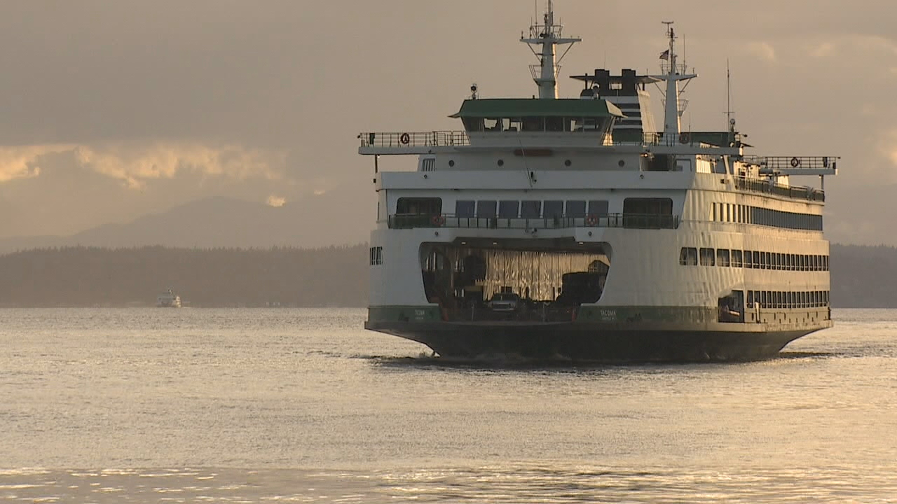 The state ferry system has unveiled a plan to phase-out the biggest gas hogs in the fleet by converting them to hybrid electric engines. (Photo: KOMO News)