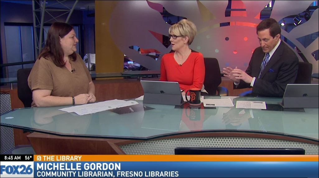 Community Librarian, Michelle Gordon, visited Great Day to talk about the Community Potluck and the annual Poetry Contest.