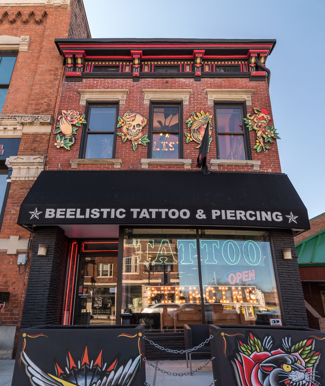 Beelistic Tattoo on Short Vine is the largest location for the well-known studio. The first floor is used for tattooing and the second level is reserved for piercings. ADDRESS: 2703 Vine Street, Cincinnati, OH 45219 / Image: Phil Armstrong, Cincinnati Refined // Published: 3.14.17