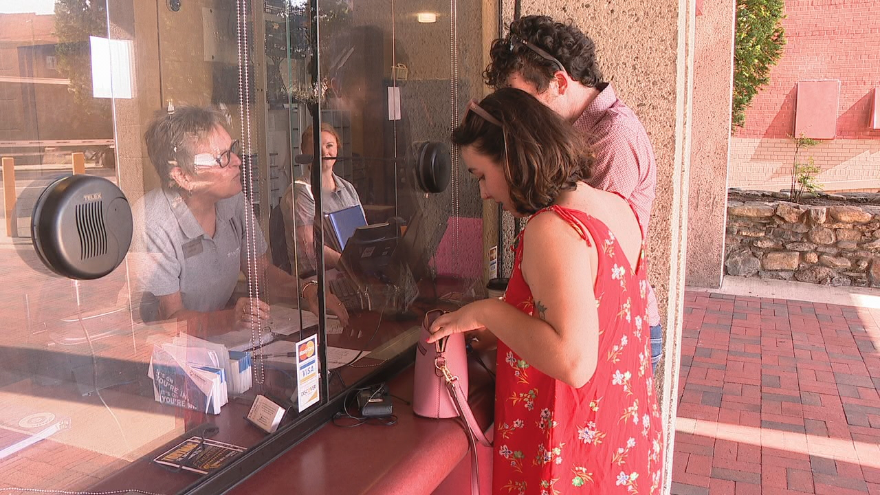 Grammy winner Kacey Musgraves played two shows in Asheville, giving downtown merchants a boost at the start of a work week in Asheville. (Photo credit: WLOS staff){ }