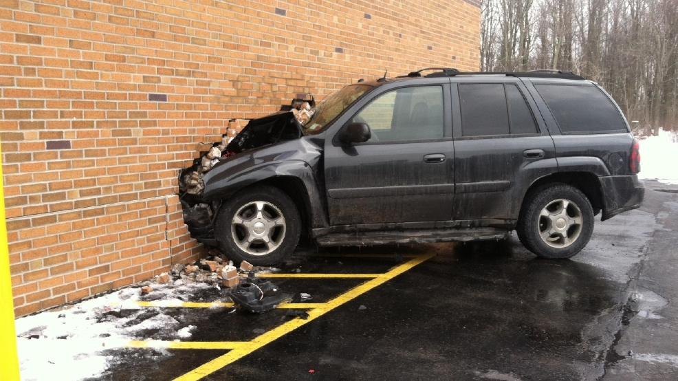 Car Crashes Into Albion School
