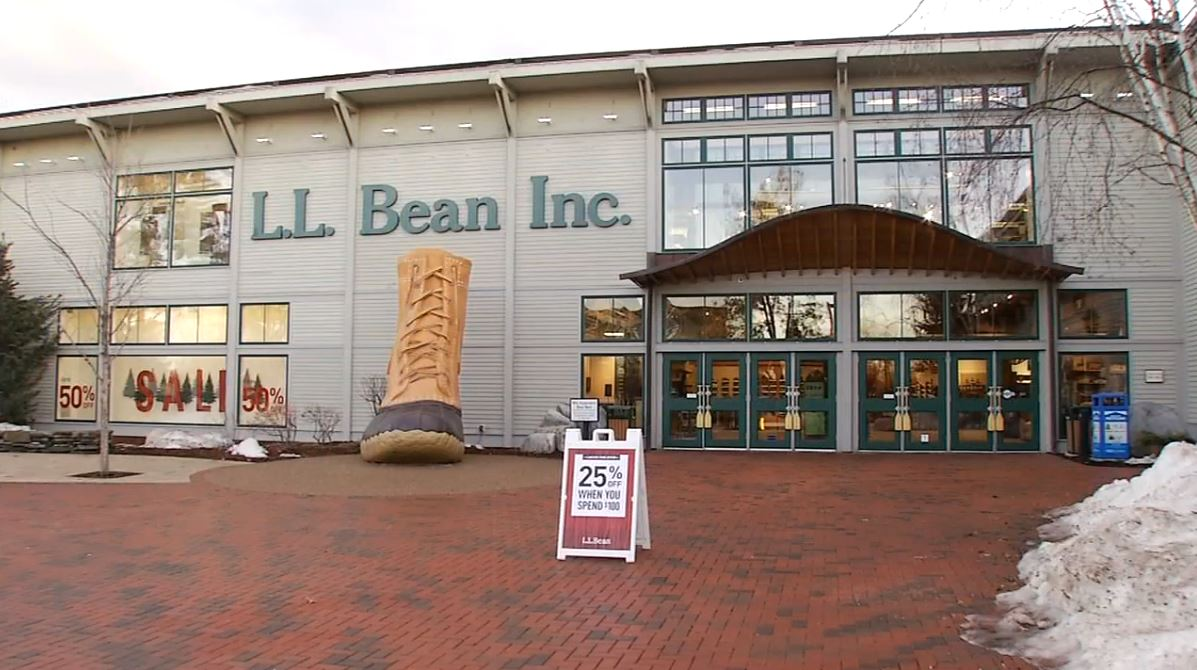 L.L. Bean flagship store in Freeport, Maine. (WGME)