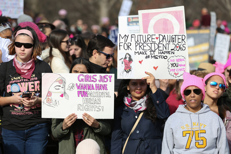 The 2018 Women's March brought thousands of protestors to D.C. Although their message was serious, some marchers had a good sense of humor about their signs. (Amanda Andrade-Rhoades/DC Refined)