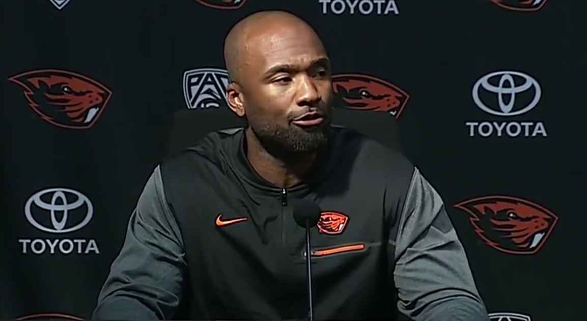 Cory Hall will serve as interim coach of the Oregon State Beaver football team after the departure of Gary Andersen from the program. (SBG)