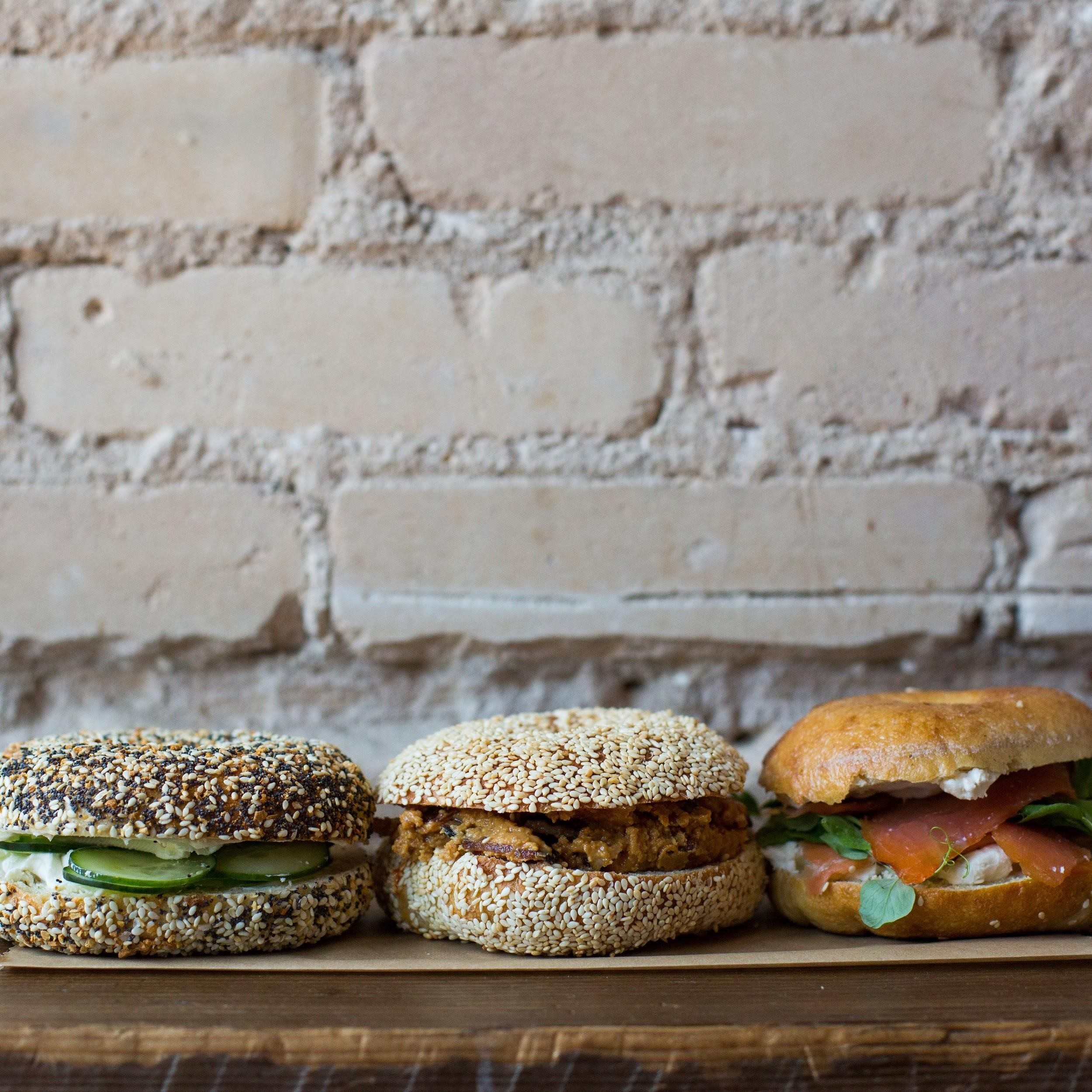 Bagel sandwiches from Call Your Mother deli. (Image: Maya Oren)