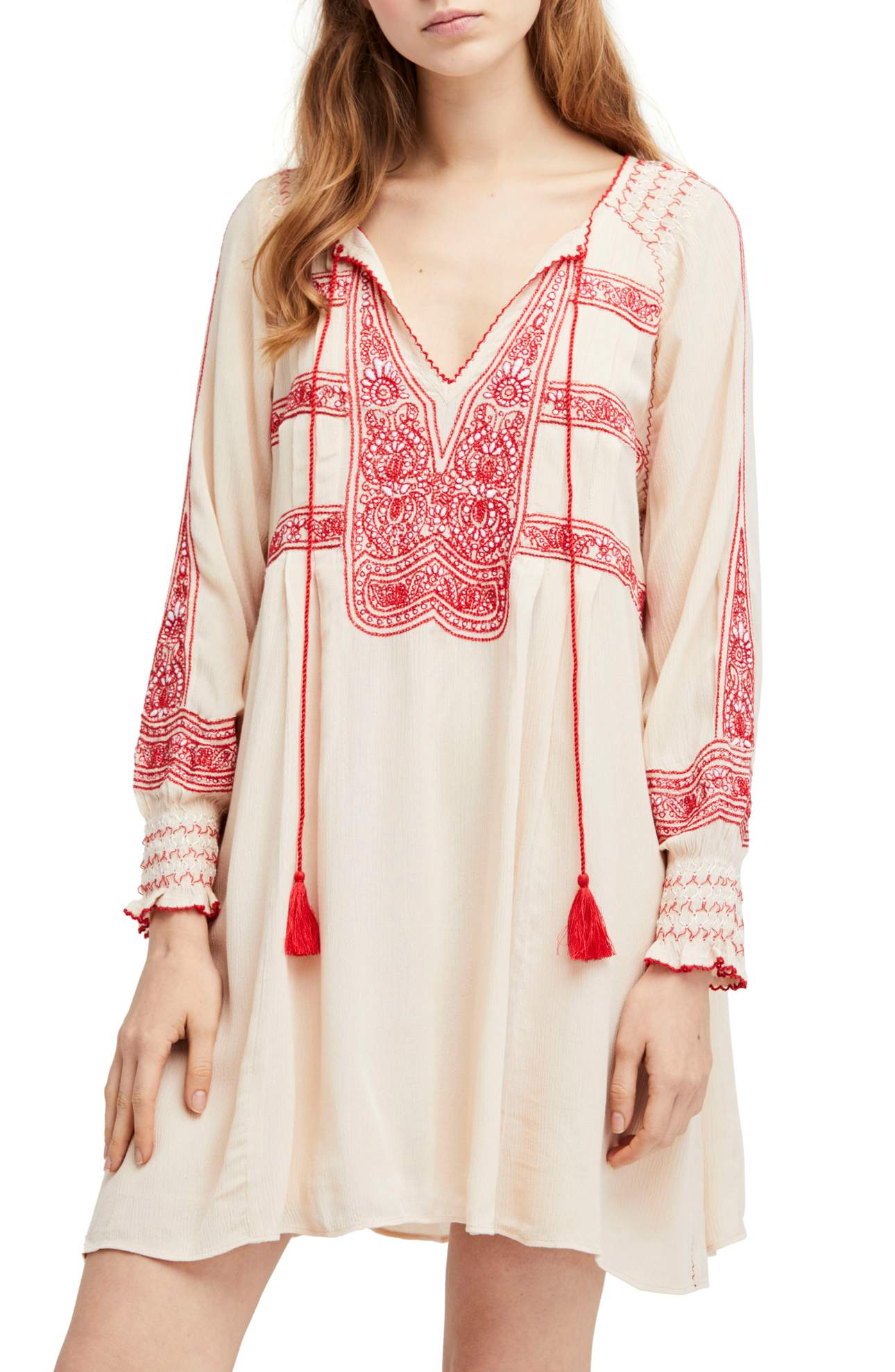 This Wind Willow Minidress was $148 and is now $88.80.<p>The boho dress of your dreams is soft in gauzy, lightweight cotton and lavishly decorated with pretty contrast embroidery.</p><p>(Image: Nordstrom/Free People){&amp;nbsp;}</p>