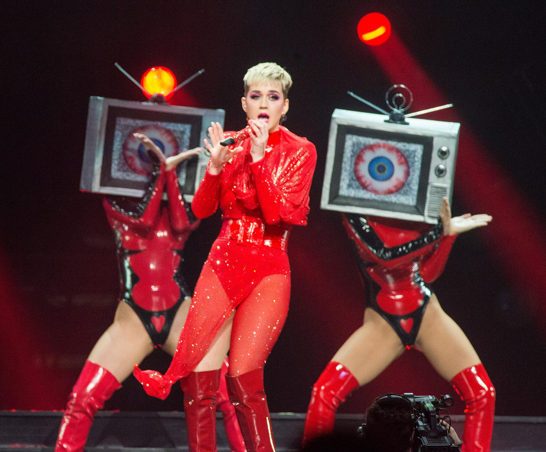 Pop sensation Katy Perry dazzled fans of all ages Friday night with a stunning performance at Portland's Moda Center as part of her worldwide 'Witness' tour. (KATU photo by Tristan Fortsch on February 2, 2018)