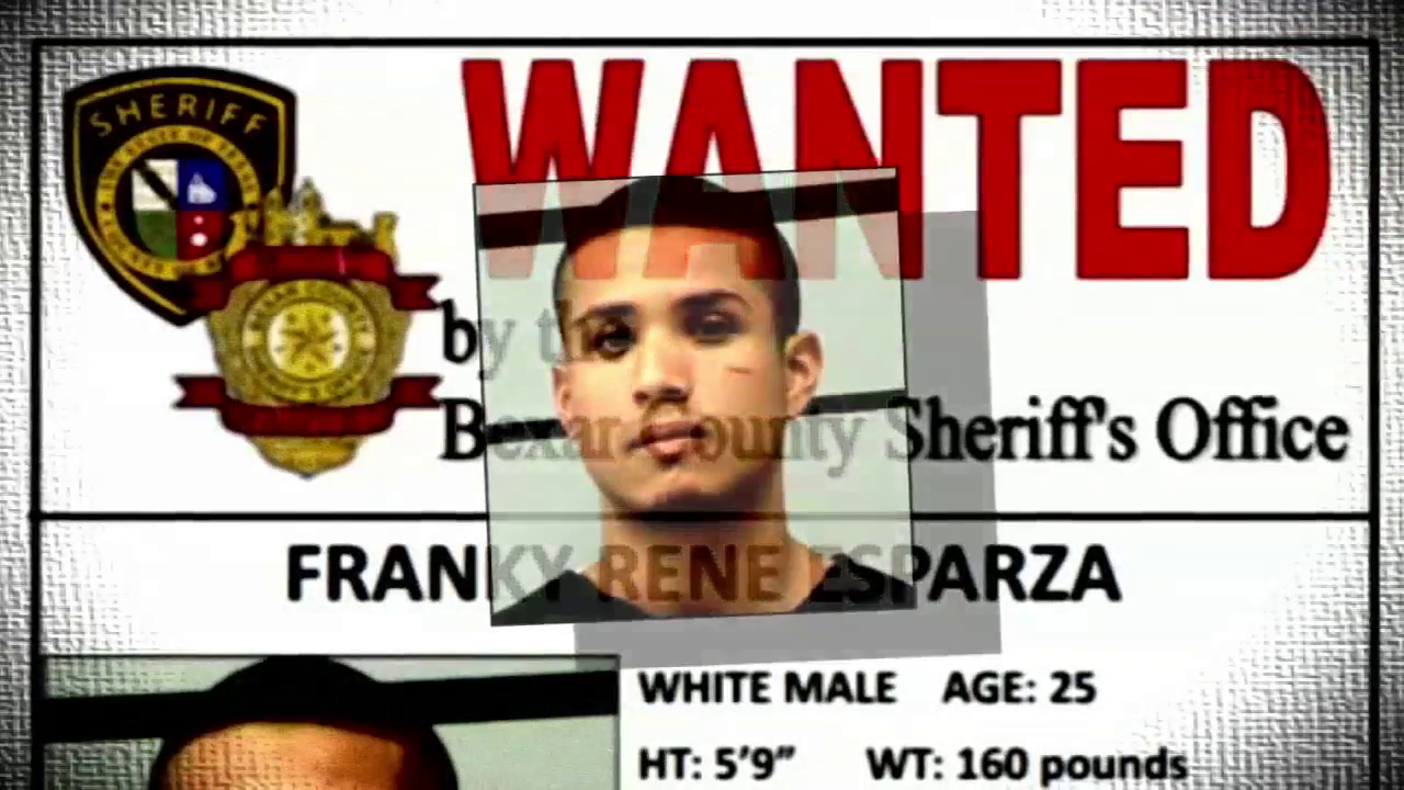 If you have any information on this fugitive you can call the Bexar county Sheriff's Office at 210-335-8477.
