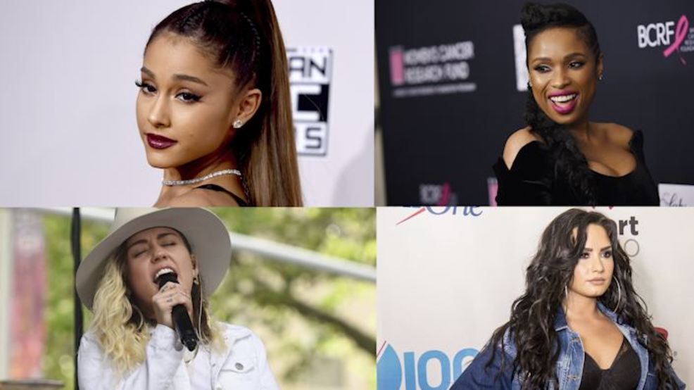 Ariana Grande, Jennifer Hudson, Miley Cyrus, Demi Lovato attending March for Our Lives