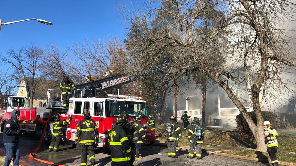 Fire crews battle 2-Alarm blaze in West Baltimore