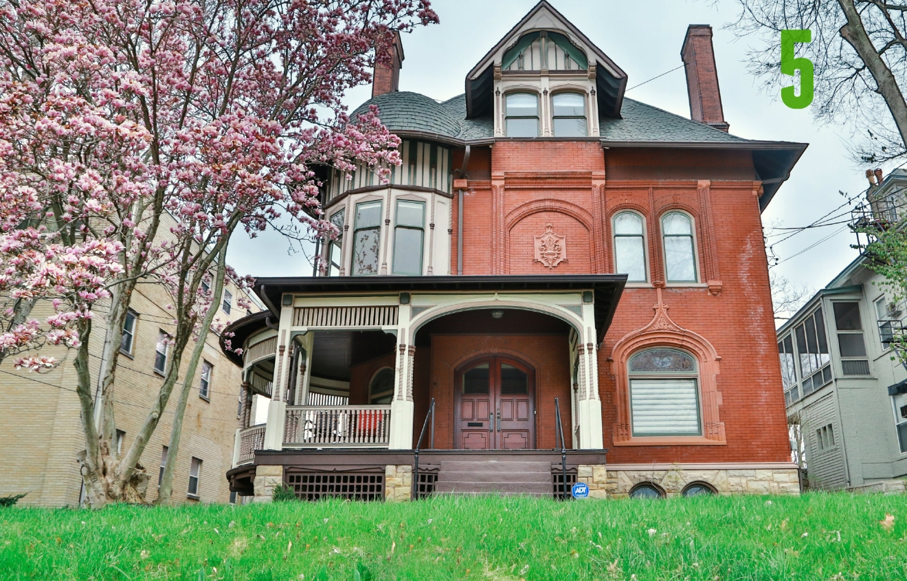 #5 - This is the old Brunswick home in East Walnut Hills. Now Tatiana Berman (founder of Constella Festival) and her fiancee, David Donnelly (filmmaker) live there. / Image: Catherine Viox