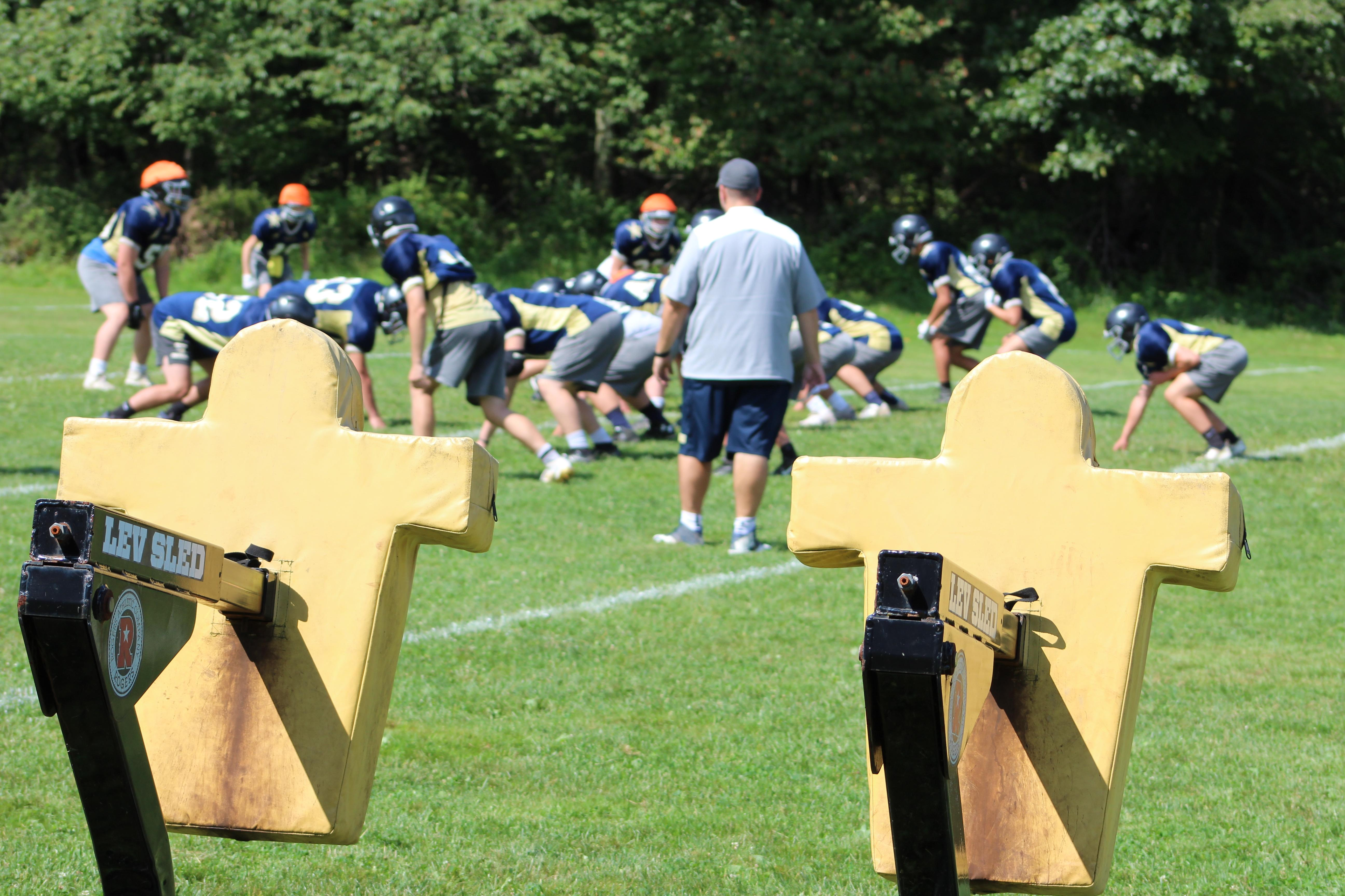 "Knoch High School practices its triple-option offense during a morning workout.{ }Watch the AHN Friday Night Rivals powered by IGS Energy ""Kickoff Special"" Aug. 23 at 7 p.m. on 22 the Point."