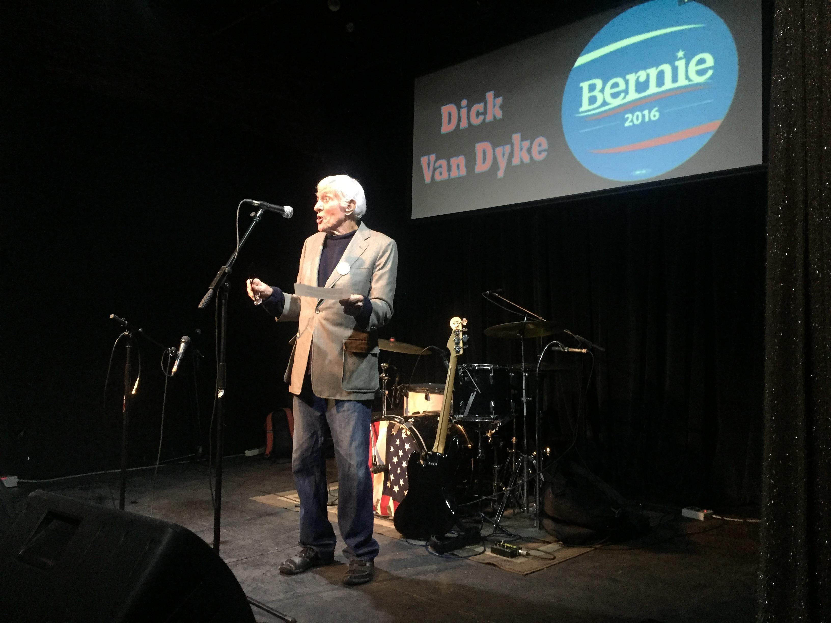 Hollywood icon, Dick Van Dyke, hosts Bands for Bernie in Reno, a grassroots campaign reaching voters through music.