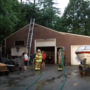 Lightning strike causes garage fire in East Baldwin
