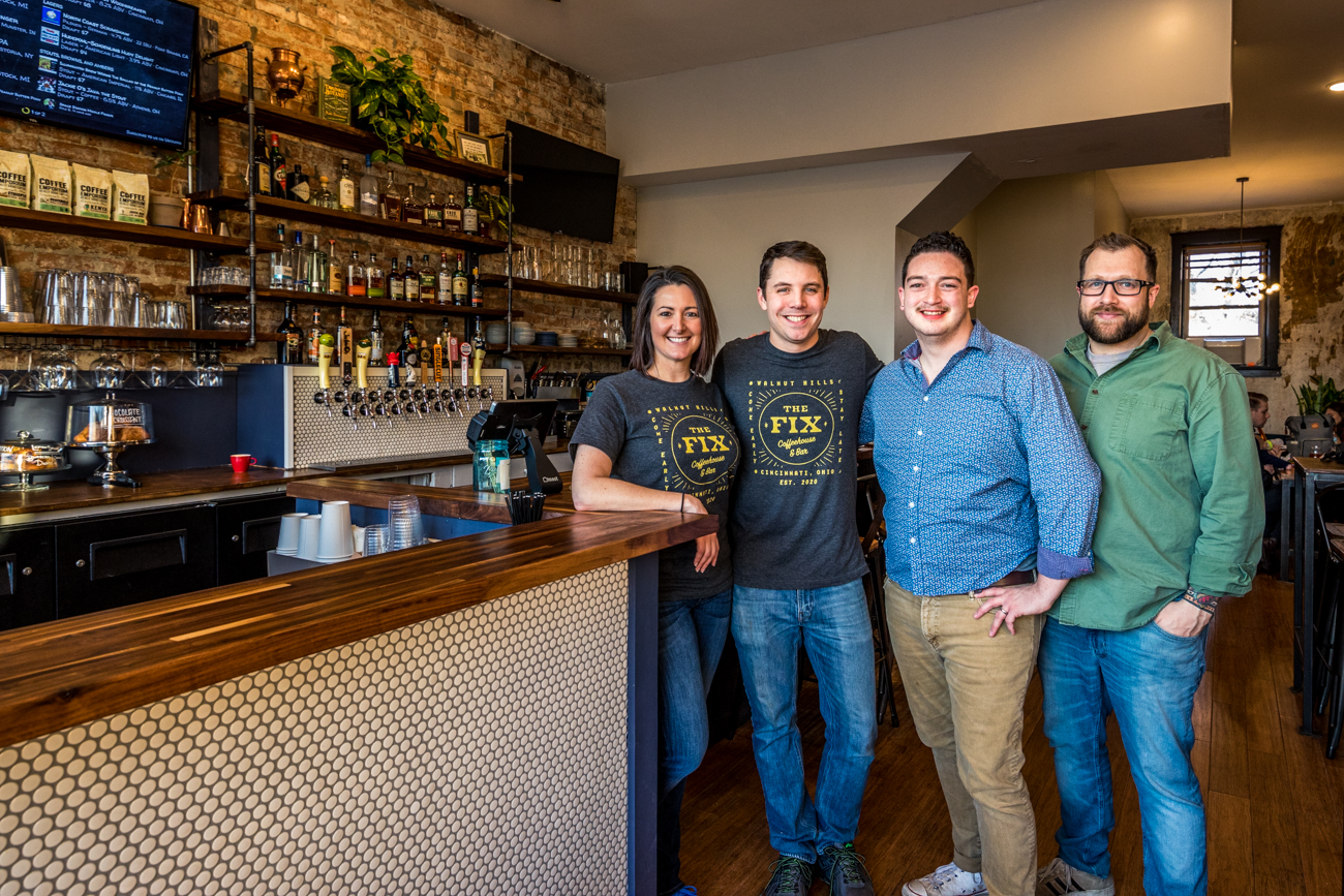 Owners Elizabeth and Keith Coombs with employees Jacob Perez and Rob McGregor (photo taken pre-pandemic) / Image: Catherine Viox // Published: 7.18.20