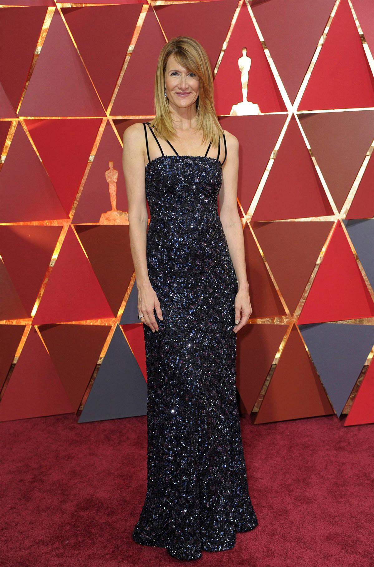 Laura Dern arrives at the Oscars on Sunday, Feb. 26, 2017, at the Dolby Theatre in Los Angeles. (Photo by Richard Shotwell/Invision/AP)