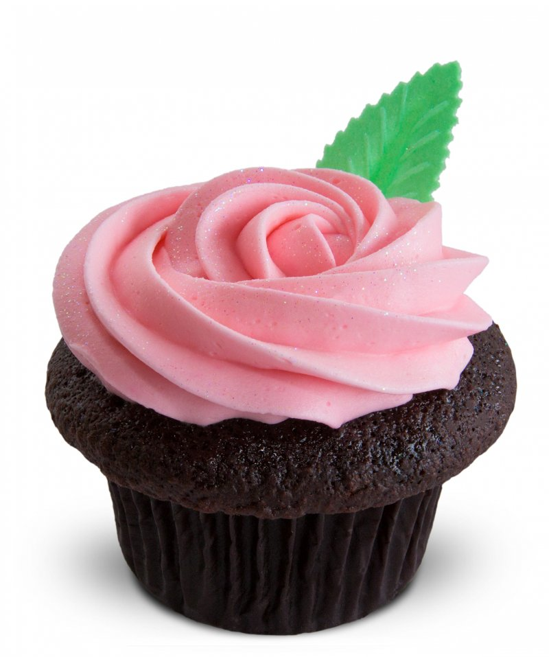 Pink Rose Cupcake{ }(Photo: Trophy Cupcakes)