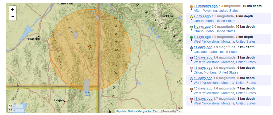 5.3- magnitude earthquake strikes southern Idaho; tremors felt throughout Utah (Photo: quakestoday)