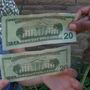 Neighbors claim they were given fake money
