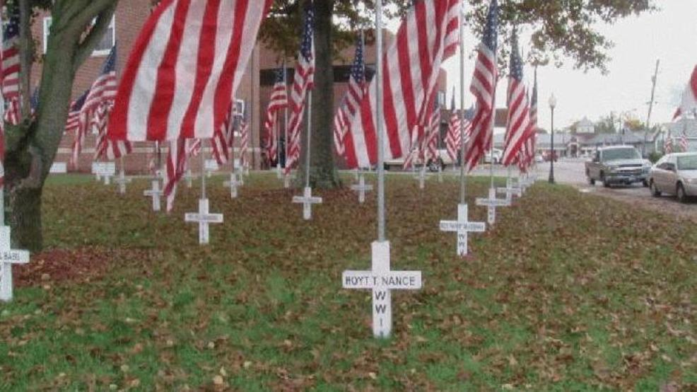 Some of the crosses at the base of these flags Ringgold uses to honor  veterans each year were made at Ringgold High School. The Wisconsin-based  Freedom From ...