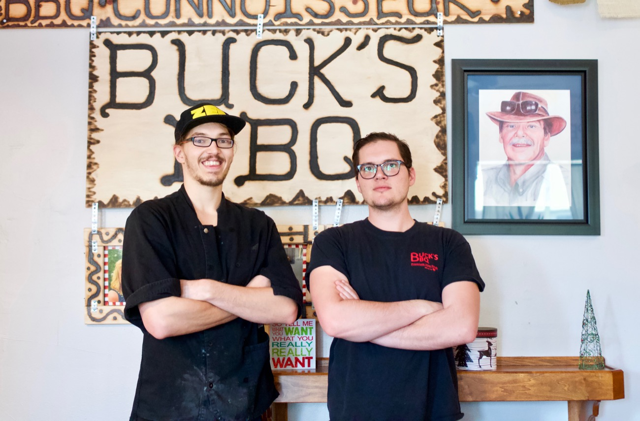 <p>David &amp; John Buchanan are nephews of owner Buck Buchanan and manage the Dayton, Kentucky location. There are also Buck's BBQs in Terrace Park, Latonia, and a fourth secret spot said to be opening soon. / Image: Brian Planalp // Published: 12.20.18</p>