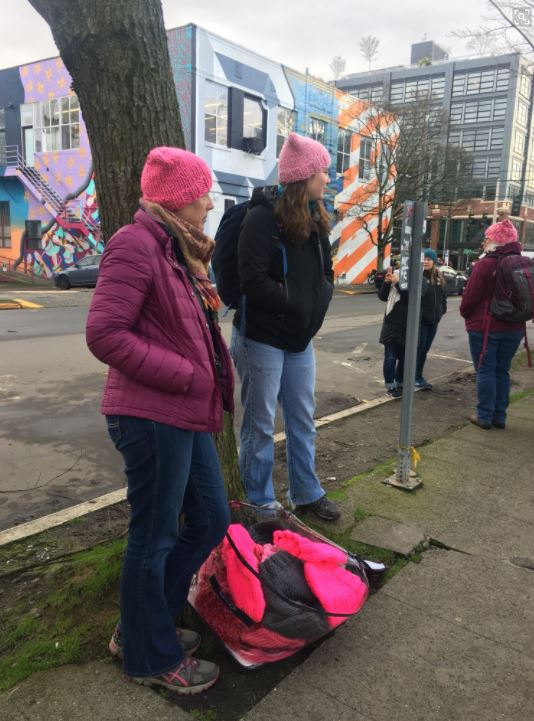 Marchers gather at Cal Anderson Park on Saturday, Jan. 20, 2018. (Photo: KOMO News)<p></p>