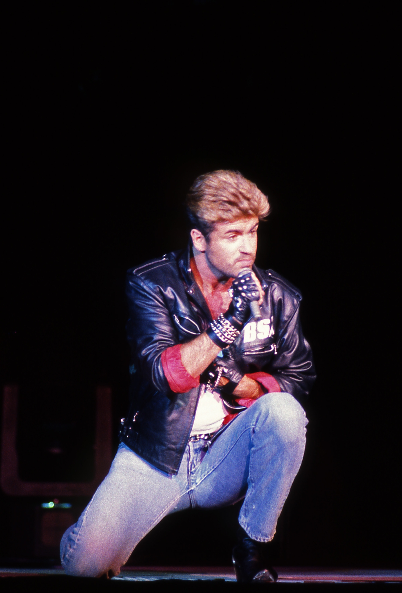 George Michael - performing live on opening night of the Faith Tour at the Budokan in Tokyo Japan - 19 Feb 1988.  Photo credit: George Chin/IconicPix  Where: London, United Kingdom When: 19 Feb 1988 Credit: George Chin//IconicPix/WENN.com  **Only available for publication in UK, USA, Germany**