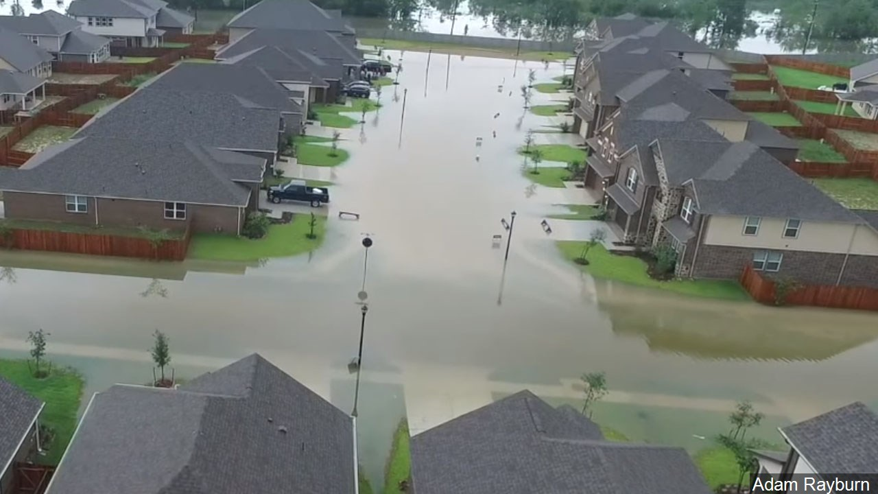 A flooded residential neighborhood in Southeast Houston, TX, Photo Date: 8/27/2017 Photo: Adam Rayburn