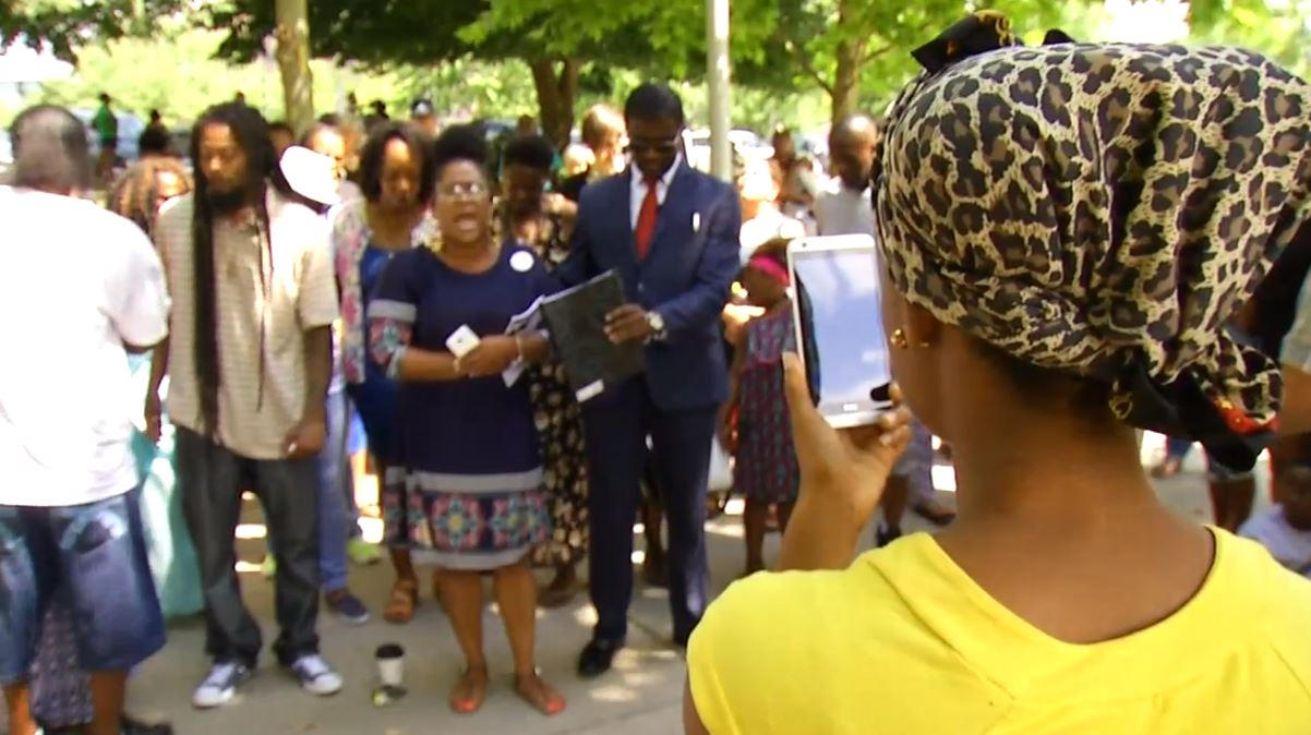 The Williams family is now calling on Asheville Police to open dialogue with the African-American community about other police shooting deaths they want re-investigated (Photo credit: WLOS)