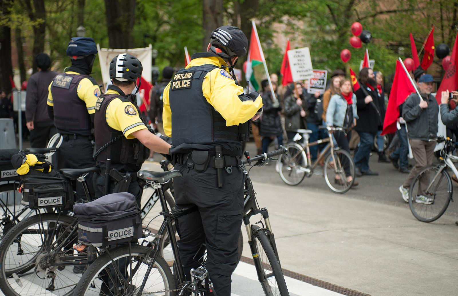 May Day 2017 in Portland (KATU News photo May 1, 2017 by Tristan Fortsch)
