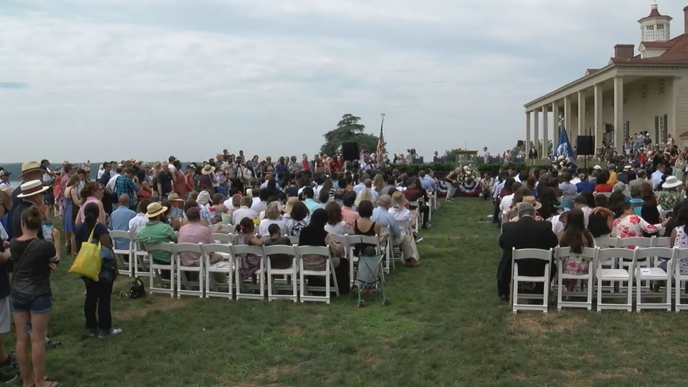 More than 100 people sworn in as US citizens at Mount ...