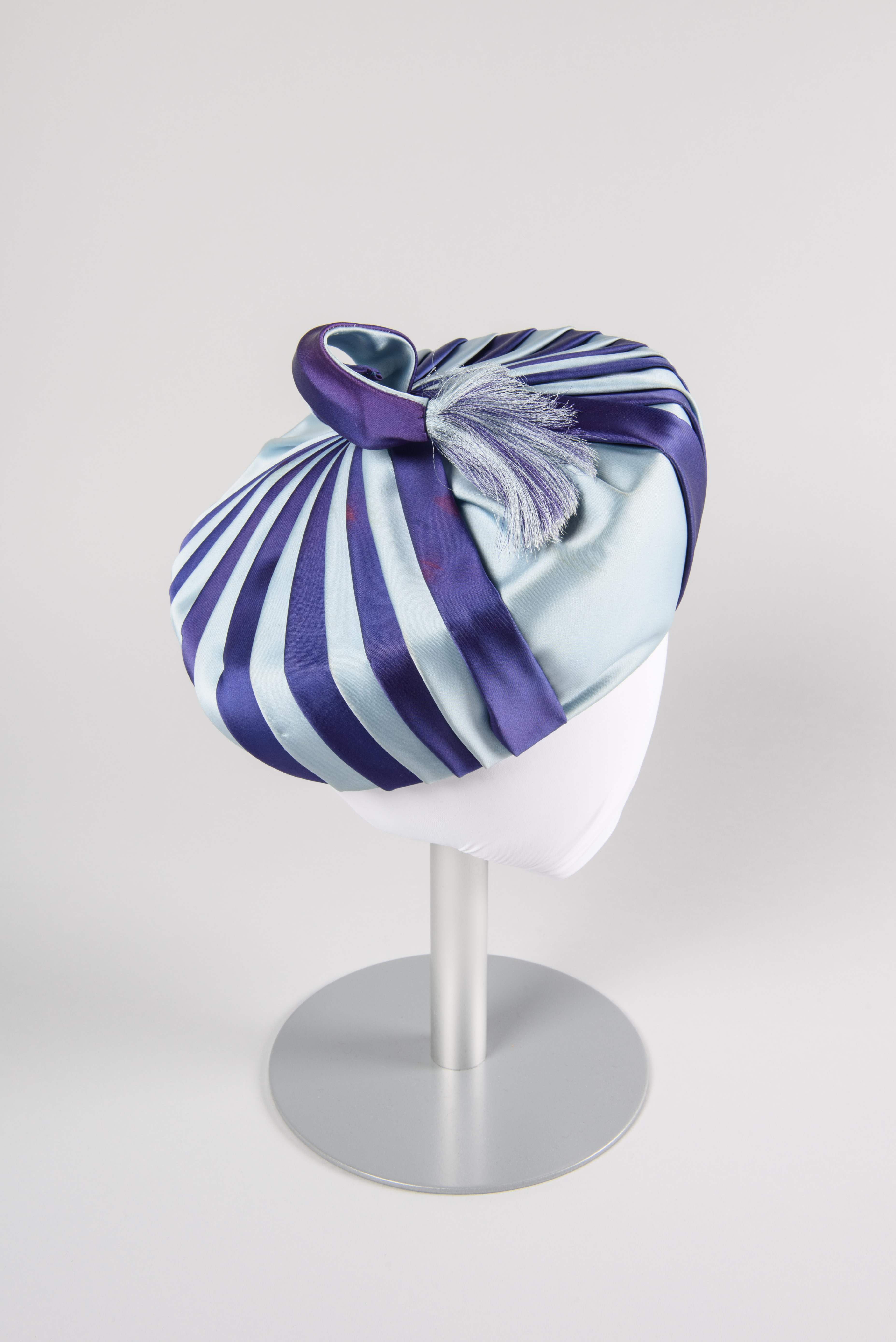 Striped toque, about 1963, John Eaton, Seattle, maker. Gift of Seattle Goodwill Industries copyright MOHAI Collection.