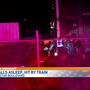 Man who fell asleep on railroad tracks tried to get up before he was hit by train
