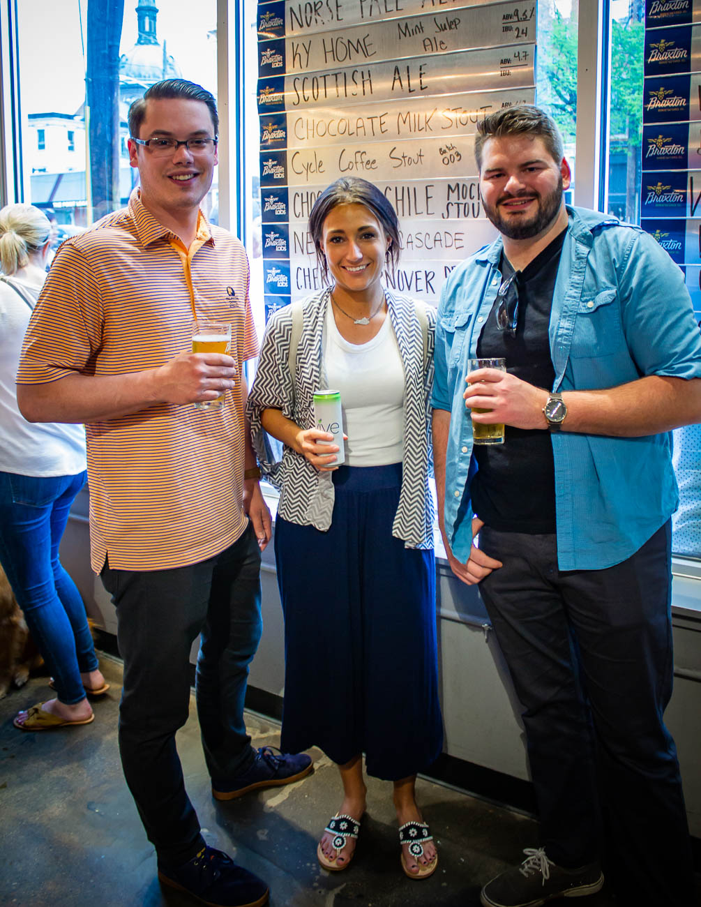 Michael & Megan Robinson and Sam Collins{ }/ Image: Katie Robinson, Cincinnati Refined // Published: 4.19.19
