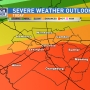 Severe weather likely Sunday evening