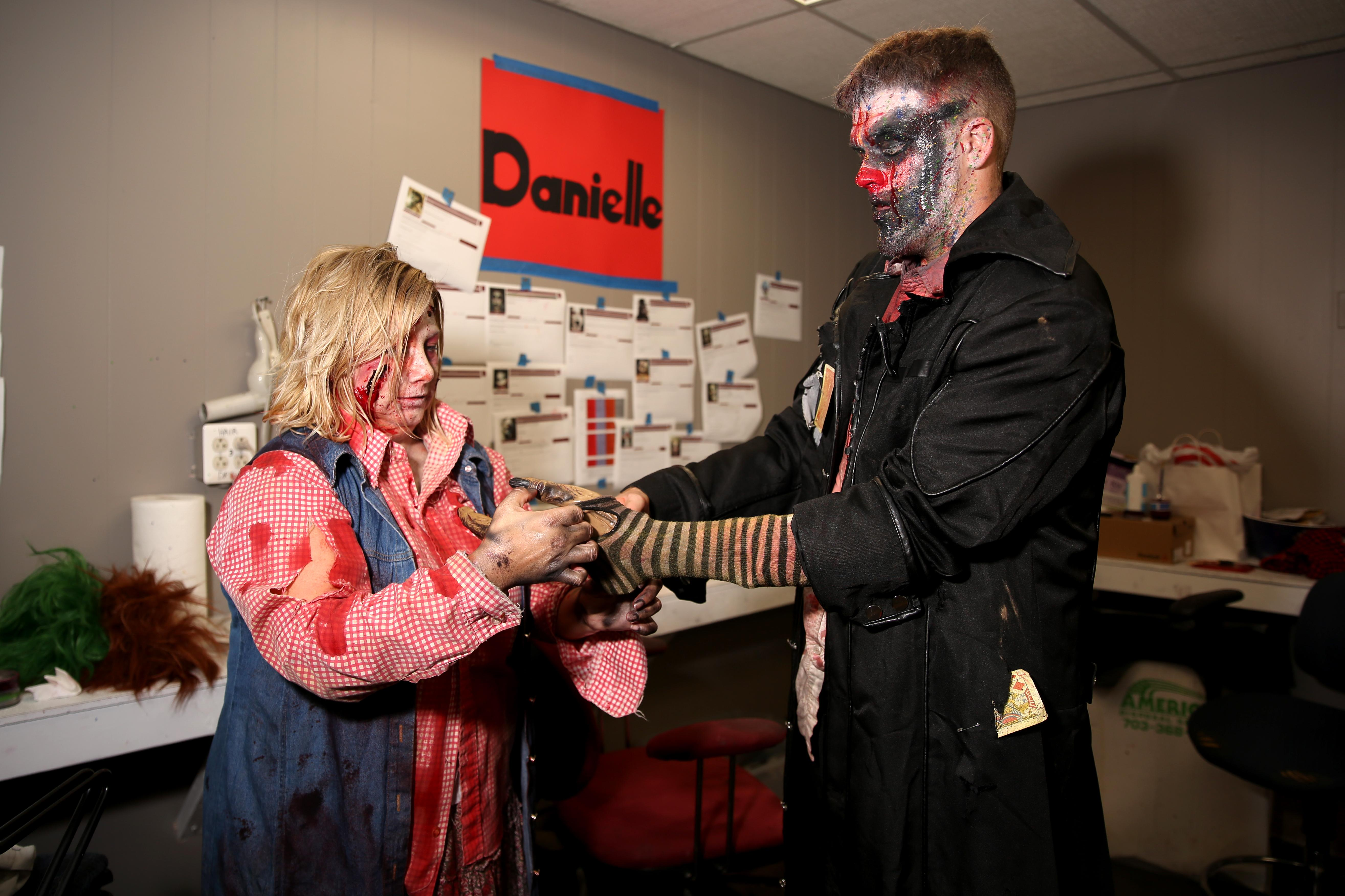 Although Danielle and Autumn aren't the only makeup artists, the entire team takes just two hours to transform up to 70 people every night around Halloween. (Amanda Andrade-Rhoades/DC Refined)