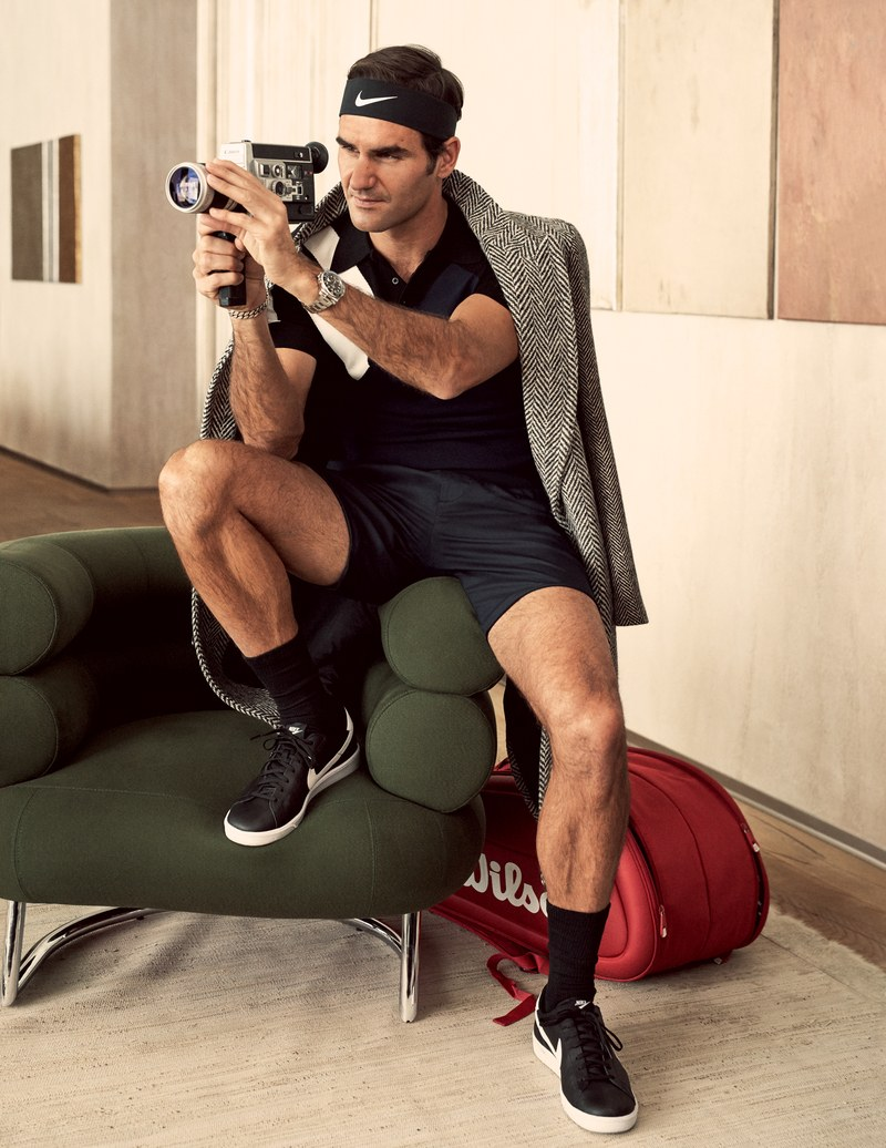 Photo Source: GQ Magazine                   Coat, $2,195, by Burberry / Polo shirt, $480, by Neil Barrett / Shorts, $275, by Emporio Armani / Sneakers, $100, socks and headband by Nike / Watch by Rolex / Tennis bag by Wilson Sporting Goods Co.DALiM