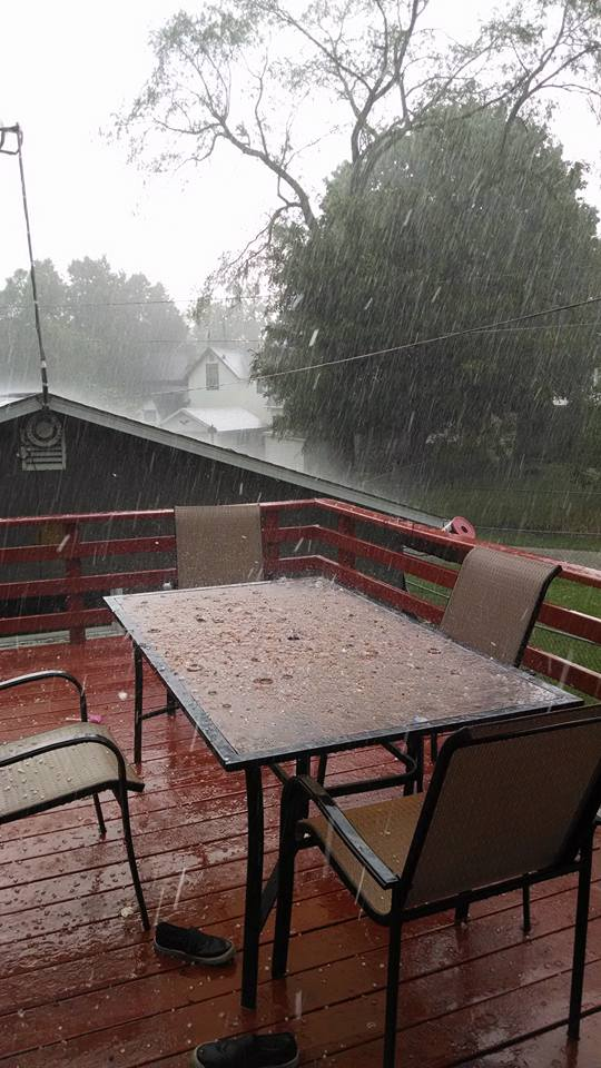 "Aug. 14: ""Hail in Marinette"" (Submitted by David Johnson)"