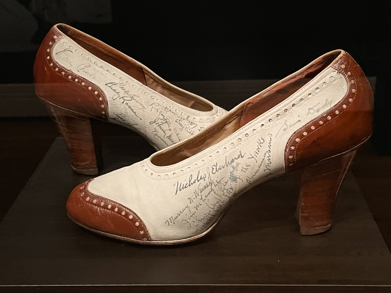 Spectator Pumps Signed by the Yankees, about 1941 / Image: Phil Armstrong, Cincinnati Refined // Published: 3.1.21