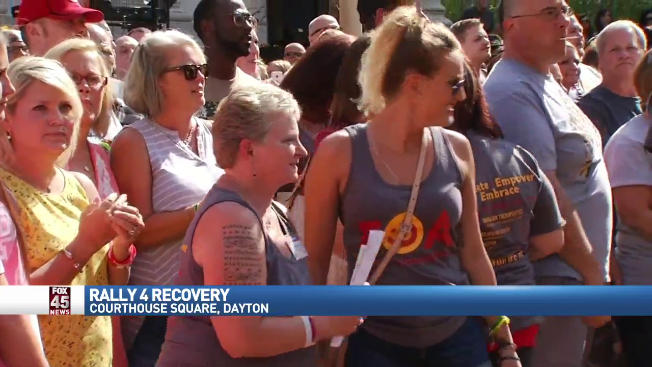 WKEFThumFourth Annual Rally 4 Recovery brings together thousands of people in downtown Dayton on Sunday, August 27, 2017. (WKEF/WRGT) Photo: Andy Grimm