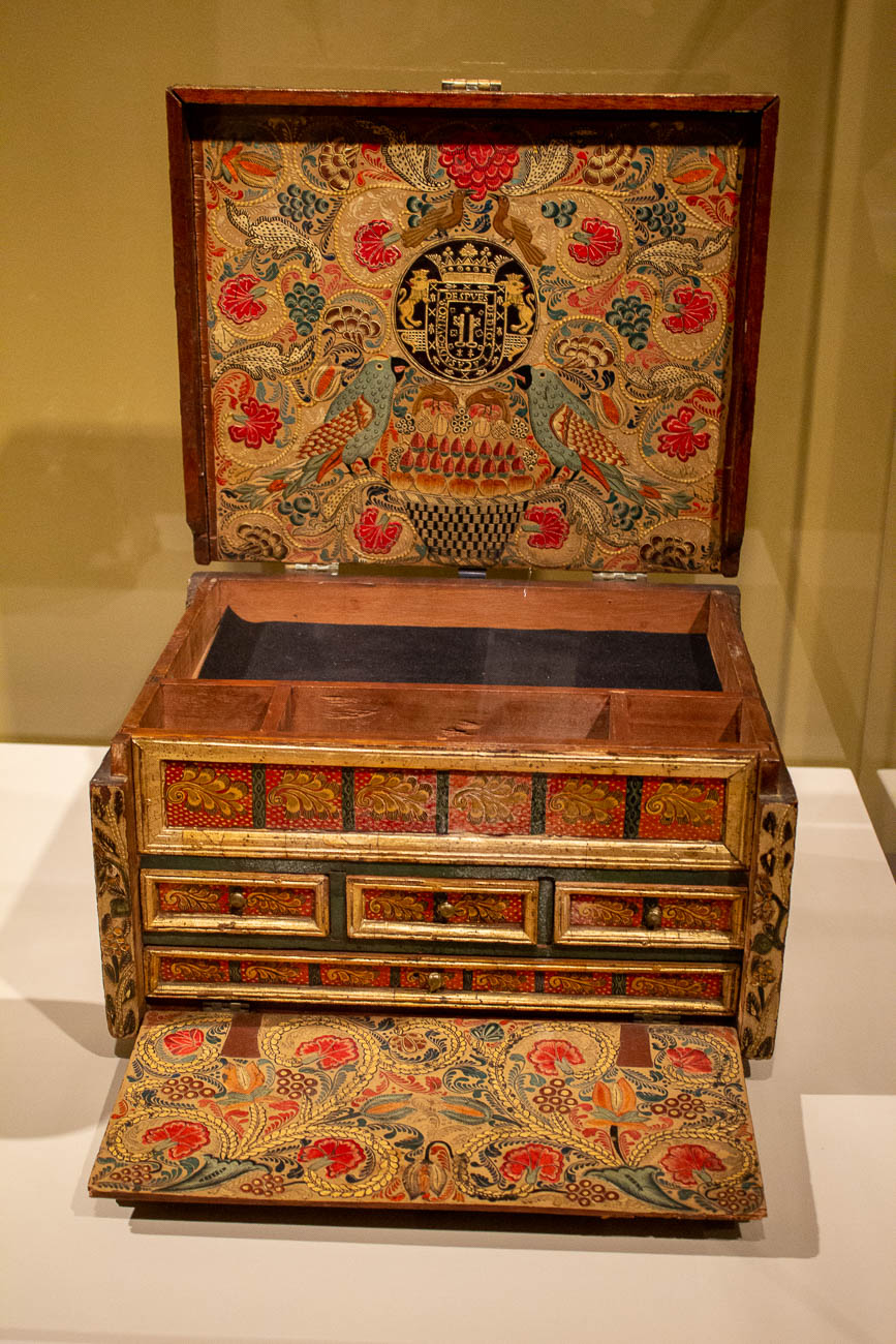 A portable writing desk circa 1684{ }/ Image: Katie Robinson, Cincinnati Refined // Published: 10.26.19